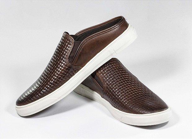 Sapato Mule Cerrado Brasil Marron