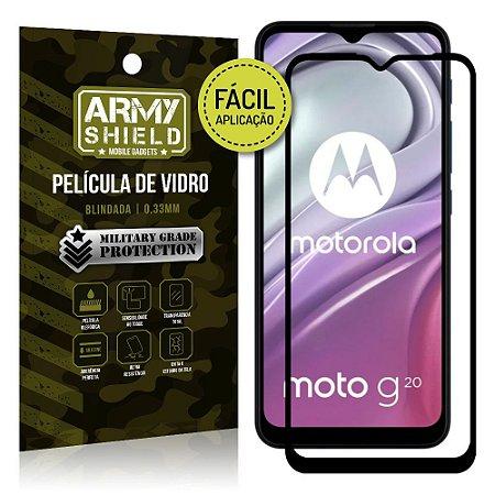 Película de Vidro 3D Moto G20 Fácil de aplicação - Armyshield