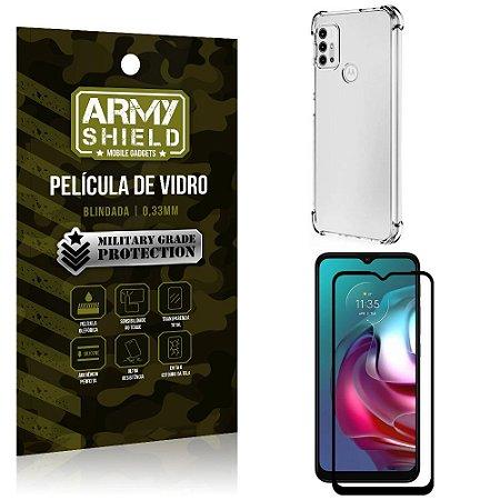 Kit Moto G30 Capinha Anti Impacto + Película de Vidro 3D - Armyshield
