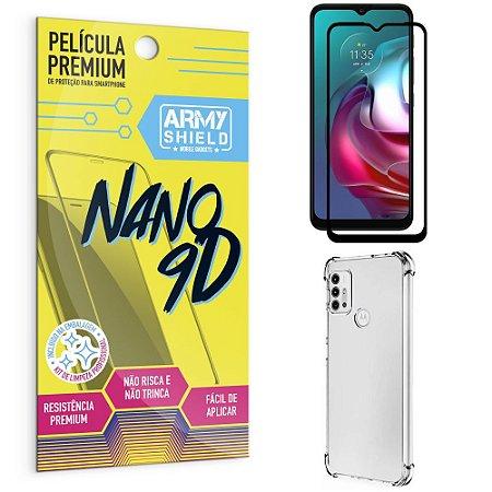 Kit Moto G30 Película Premium Nano 9D + Capa Anti Impacto - Armyshield
