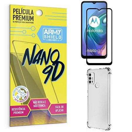 Kit Moto G10 Película Premium Nano 9D + Capa Anti Impacto - Armyshield
