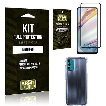 Kit Moto G60 Full Protection com Película de Vidro 3D + Capa Anti Impacto - Armyshield