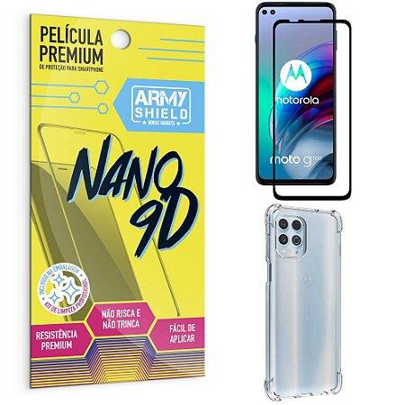 Kit Moto G100 5G Película Premium Nano 9D + Capa Anti Impacto - Armyshield
