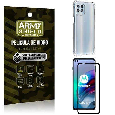 Kit Moto G100 5G Capinha Anti Impacto + Película de Vidro 3D - Armyshield