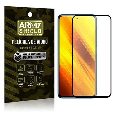 "Película de Vidro Poco X3 Blindada para tela 6,67"" Full Cover - Armyshield"
