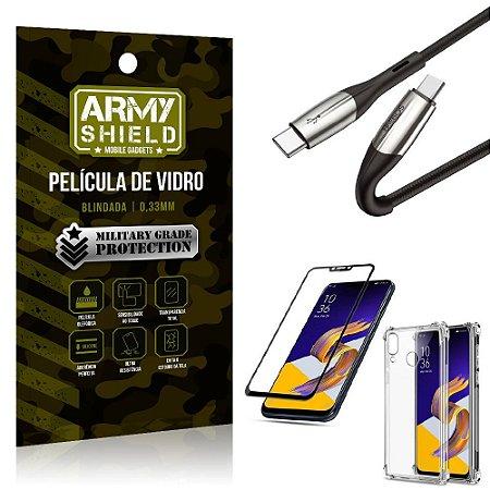 Cabo Usb Tipo C para Usb-C HS-167 Zenfone 5 ZE620KL + Capinha + Película 3D - Armyshield