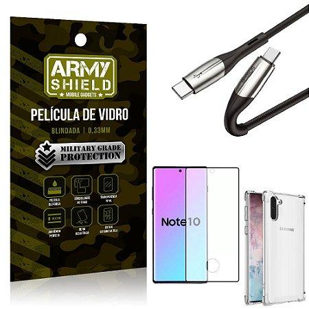 Cabo Usb Tipo C para Usb-C HS-167 Samsung Note 10 + Capinha + Película 3D - Armyshield