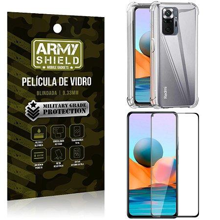 Kit Redmi Note 10 Pro Capinha Anti Impacto + Película de Vidro 3D - Armyshield