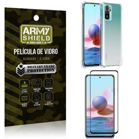 Kit Redmi Note 10 Capinha Anti Impacto + Película de Vidro 3D - Armyshield
