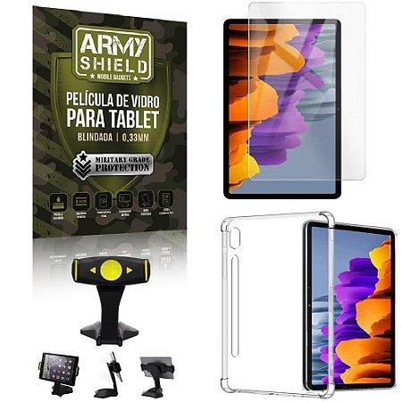 Suporte de Mesa para Tablet Samsung S7 11.0 T870/T875 + Capinha Antishock + Pelicula Armyshield