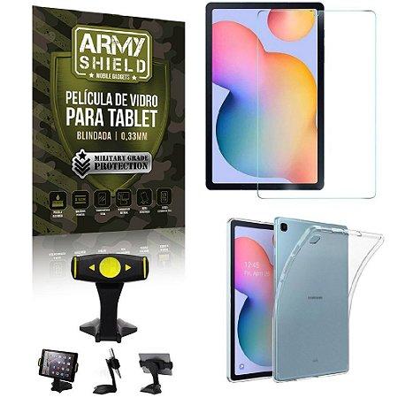 Suporte de Mesa para Tablet Samsung S6 Lite 10.4 P610/P615 + Capinha Antishock + Pelicula Armyshield