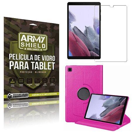 Capa Giratória Pink + Película de Vidro Tab A7 Lite 8.7 T220 T225 - Armyshield