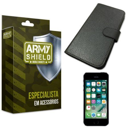 Capa Carteira Iphone 5g/5 se - Armyshield