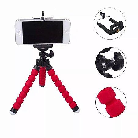 Mini tripé Flexível para Câmeras e Celulares Universal Octopus
