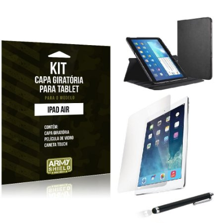 Kit Capa Giratória Apple iPad Air - Armyshield