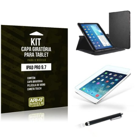 Kit Capa Giratória Apple iPad Pro 9.7' - Armyshield