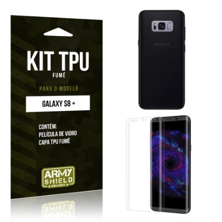 Kit TPU Fumê  Samsung Galaxy S8 Plus  Película de Vidro + TPU Fumê  - Armyshield