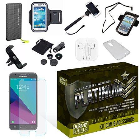 Kit Platinum Samsung Galaxy J5 2017 com 9 Itens - Armyshield