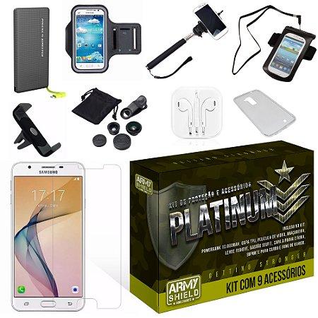 Kit Platinum Samsung Galaxy J5 Prime com 9 Itens - Armyshield