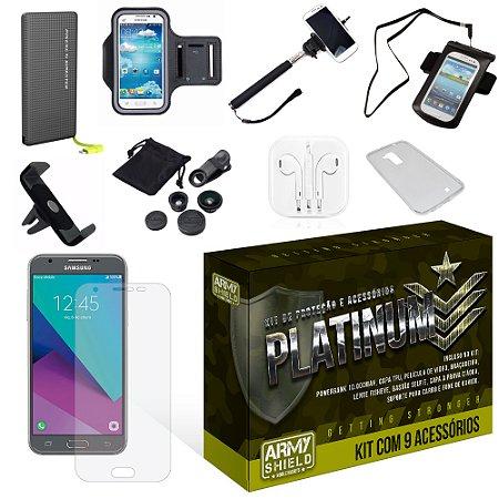 Kit Platinum Samsung Galaxy J7 Neo 2017 com 9 Itens - Armyshield