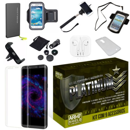 Kit Platinum Samsung Galaxy S8 com 9 Itens - Armyshield
