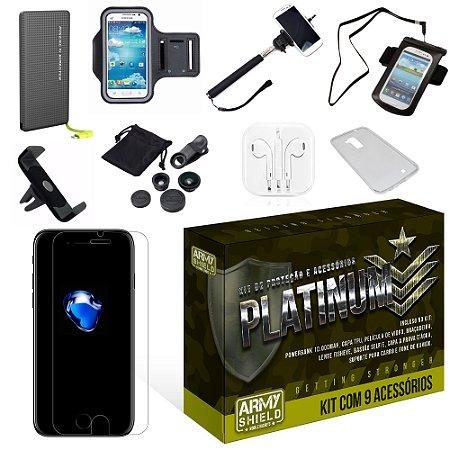 Kit Platinum Apple Iphone 7 com 9 Itens - Armyshield
