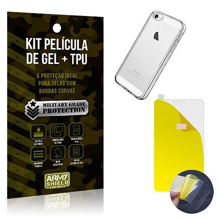 Kit Película de Gel + Capa TPU Apple iPhone 5 - 5S - 5SE  - Armyshield