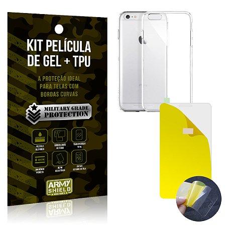 Kit Película de Gel + Capa TPU Apple iPhone 6 - 6S  - Armyshield