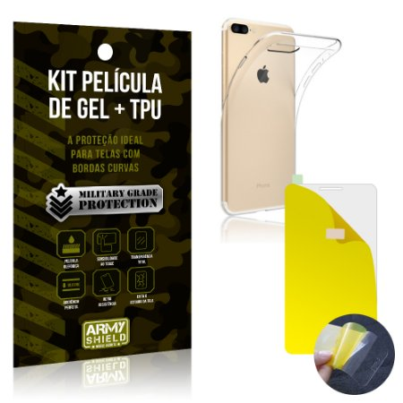 Kit Película de Gel + Capa TPU Apple iPhone 7 Plus  - Armyshield