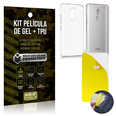 Kit Película de Gel + Capa TPU Lenovo K6 Plus  - Armyshield