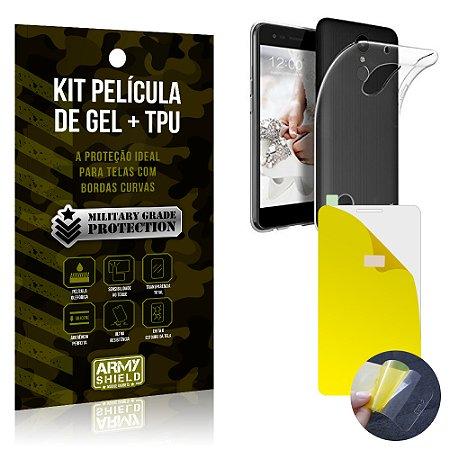 Kit Película de Gel + Capa TPU LG K10 Novo  - Armyshield