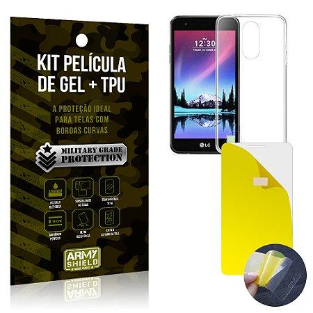 Kit Película de Gel + Capa TPU LG K8 Novo  - Armyshield