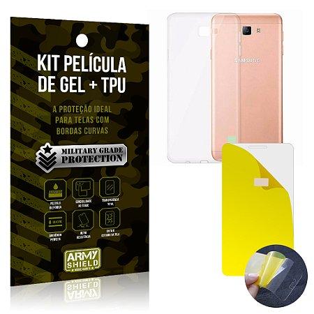 Kit Película de Gel + Capa TPU Samsung Galaxy J7 Prime  - Armyshield