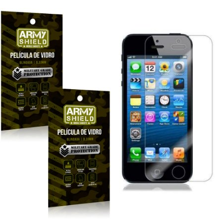 Kit 2 Películas de Vidro Iphone 5g/5 se - Armyshield