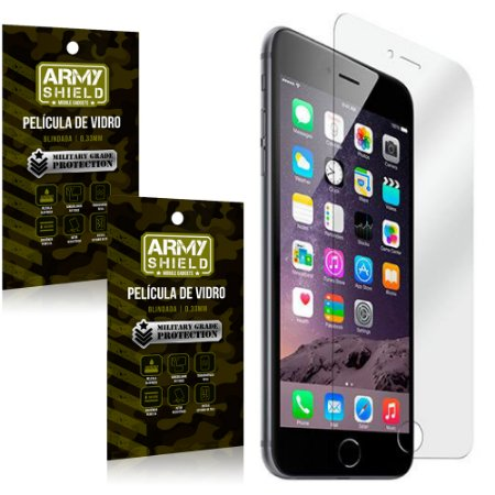 Kit 2 Películas de Vidro Iphone 6 plus / 6S Plus - Armyshield