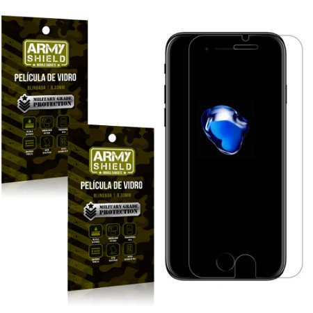 Kit 2 Películas de Vidro Iphone 7 plus - Armyshield