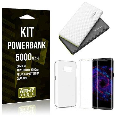 Kit Powerbank 5000 Samsung Galaxy S8 Powerbank + Película + Capa  - Armyshield