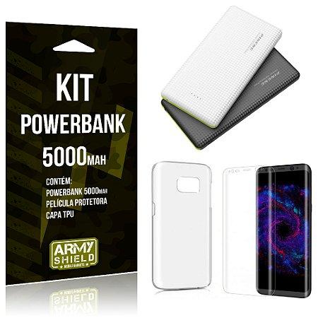 Kit Powerbank 5000 Samsung Galaxy S8 Plus Powerbank + Película + Capa  - Armyshield