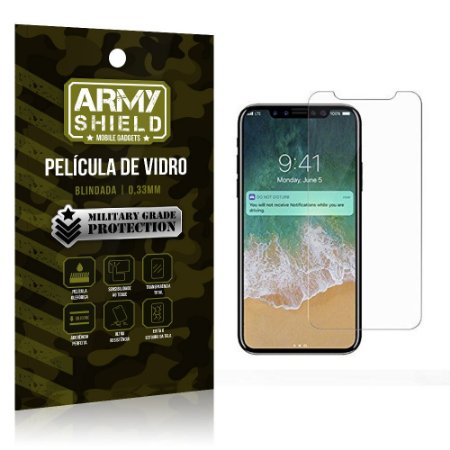 Película de Vidro Iphone X - Armyshield