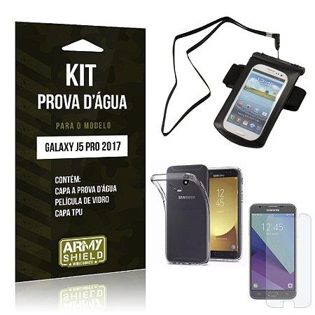 Kit Capa a prova d'agua Samsung Galaxy J5 Pro (2017) Película + Tpu + Capa prova d'agua - Armyshield