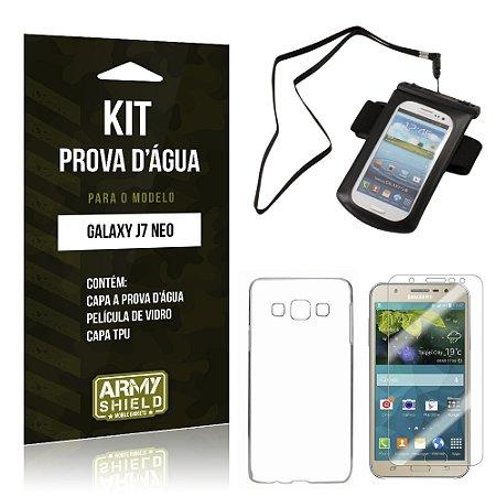 Kit Capa a prova d'agua Samsung Galaxy J7 Neo Película + Tpu + Capa a prova d'agua - Armyshield