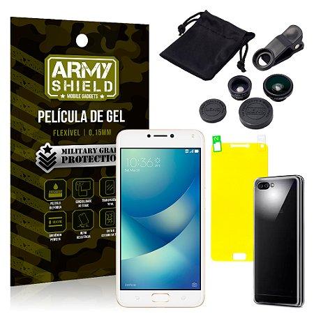 Kit Fisheye Asus Zenfone 4 Max ZC554KL 5.5 Lentes + Película + Capa - Armyshield