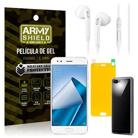 Kit Fone de Ouvido Asus Zenfone 4 ZE554KL 5.5 Fone + Película + Capa - Armyshield