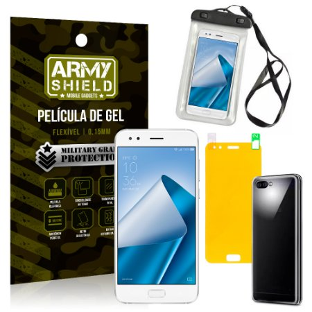 Kit Capa à Prova D'água Asus Zenfone 4 ZE554KL 5.5 Prova Dágua + Película + Capa - Armyshield