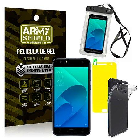 Kit Capa à Prova D'água Asus Zenfone 4 Selfie ZD553KL 5.5 Prova Dágua + Película + Capa - Armyshield