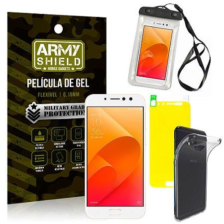 Kit Capa à Prova D'água Asus Zenfone 4 Selfie Pro ZD552KL Prova Dágua + Película + Capa - Armyshield