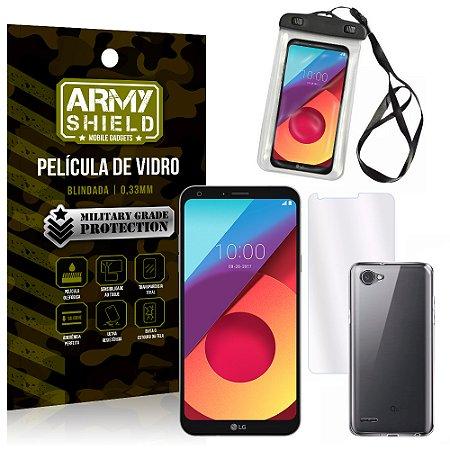 Kit Capa à Prova D'água LG Q6 / Q6 Plus M700TV 5.5 Prova Dágua + Película + Capa - Armyshield
