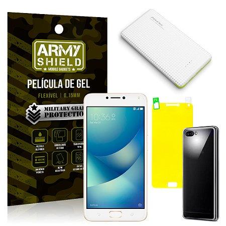 Kit Powerbank Asus Zenfone 4 Max ZC554KL 5.5 Powerbank + Película + Capa - Armyshield