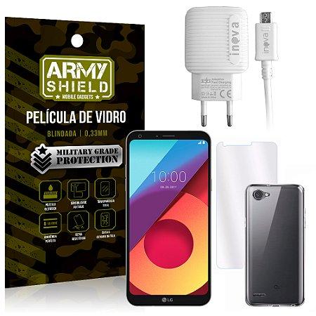 Kit Carregador LG Q6 / Q6 Plus M700TV 5.5 Carregador + Película + Capa - Armyshield