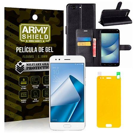 d0c8d8ab3b Kit Capa Carteira Asus Zenfone 4 ZE554KL 5.5 Capa Carteira + Película -  Armyshield